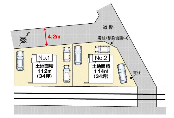 広島市安佐南区八木3丁目5新築一戸建て分譲住宅区画図