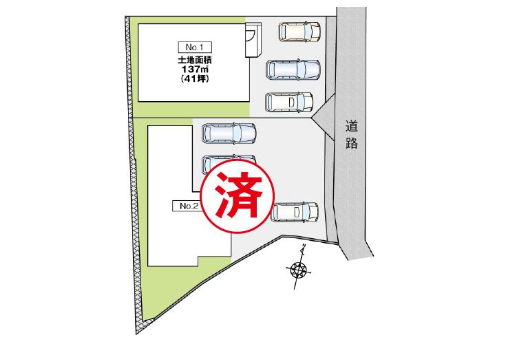 広島市東区戸坂山根2丁目8新築一戸建て分譲住宅区画図