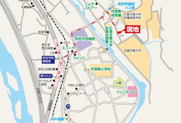 広島市安佐北区可部東1丁目3新築一戸建て現地案内図