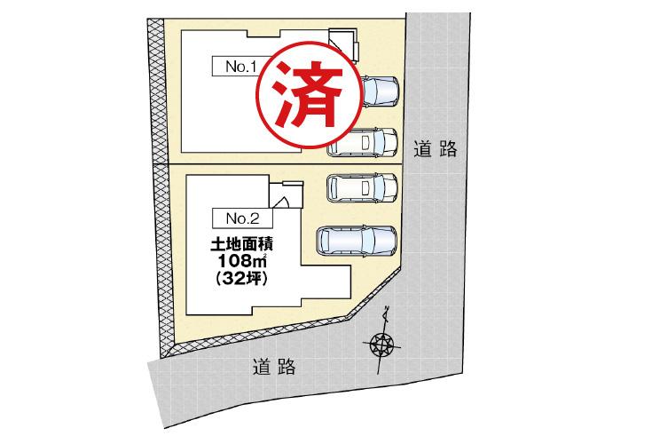 広島市西区井口鈴が台3丁目15【第1現地】区画図