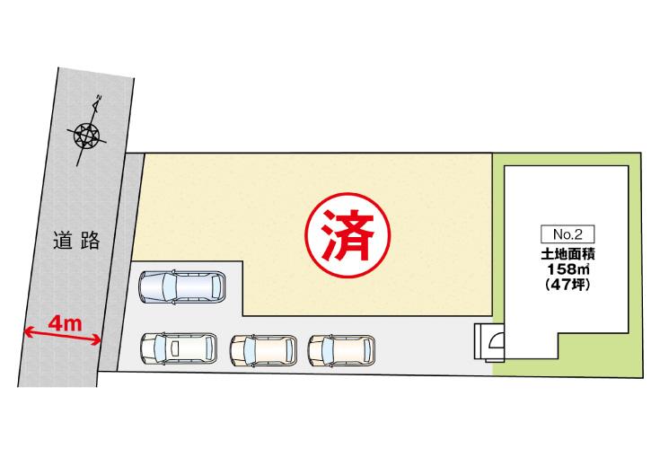 広島市安佐北区可部東1丁目3新築一戸建て区画図
