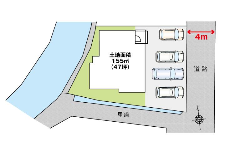 広島市安佐北区可部1丁目5新築一戸建て分譲住宅区画図