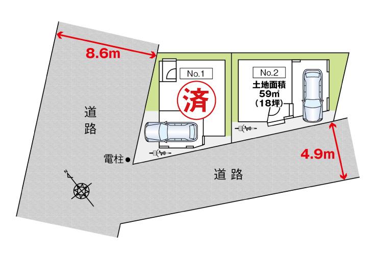 広島市中区舟入南4丁目10【第2現地】新築一戸建て分譲住宅区画図
