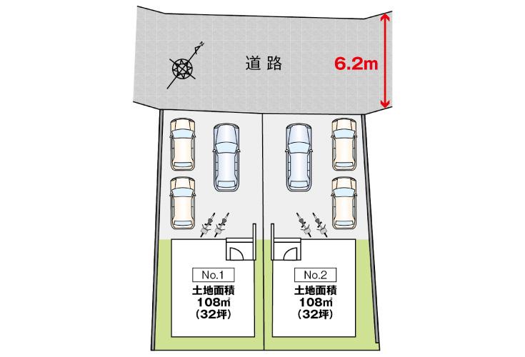 広島市安佐南区川内3丁目18新築一戸建て分譲住宅区画図