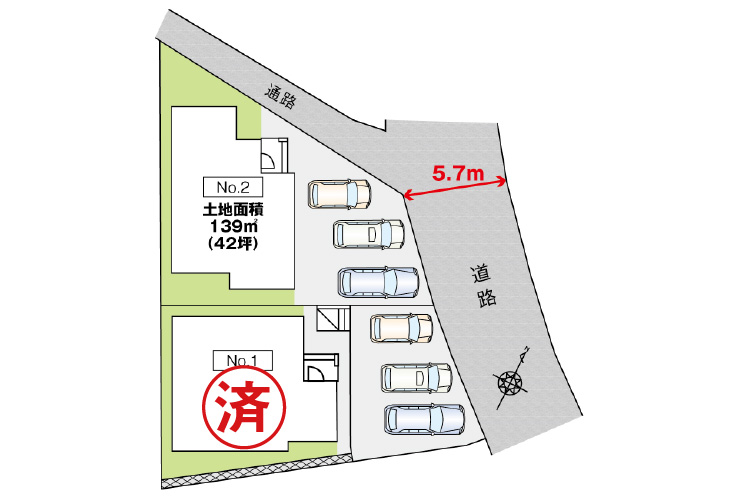 東広島市西条町御薗宇6810新築一戸建て分譲住宅現地区画図