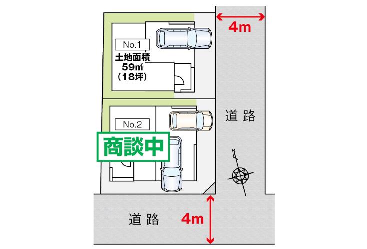 広島市安佐南区祇園7丁目21新築一戸建て分譲住宅区画図