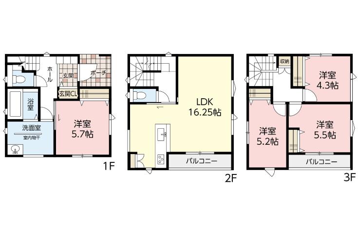 広島市佐伯区美の里2丁目4新築一戸建て分譲住宅間取り図