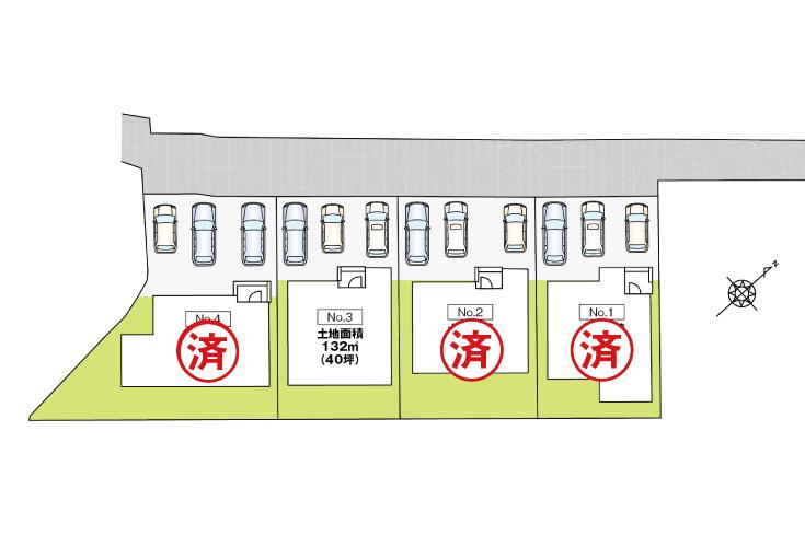 広島市安芸区中野2丁目31新築一戸建て分譲住宅区画図