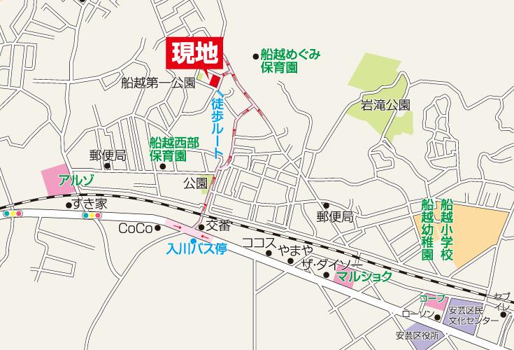 広島市安芸区船越1丁目6新築一戸建て分譲住宅現地案内図