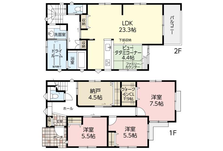 広島市西区己斐上3丁目33【第1現地】新築一戸建て分譲住宅間取り図