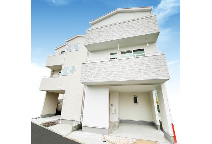 広島市安佐南区東野1丁目9新築一戸建て分譲住宅外観