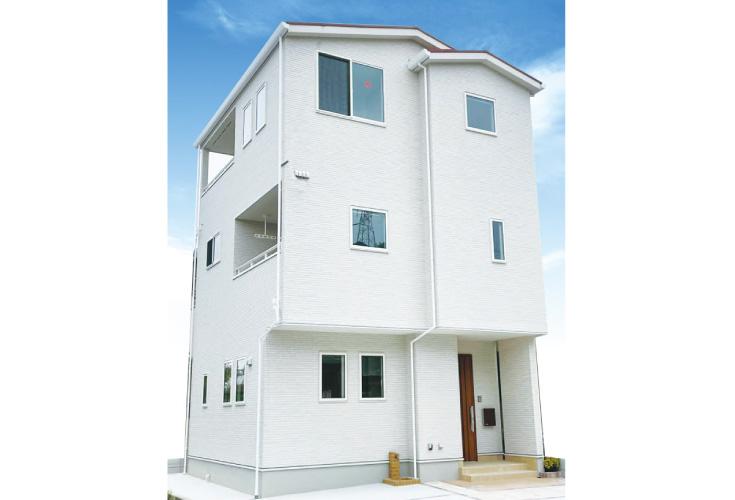 広島市安佐北区口田4丁目8新築一戸建て分譲住宅外観