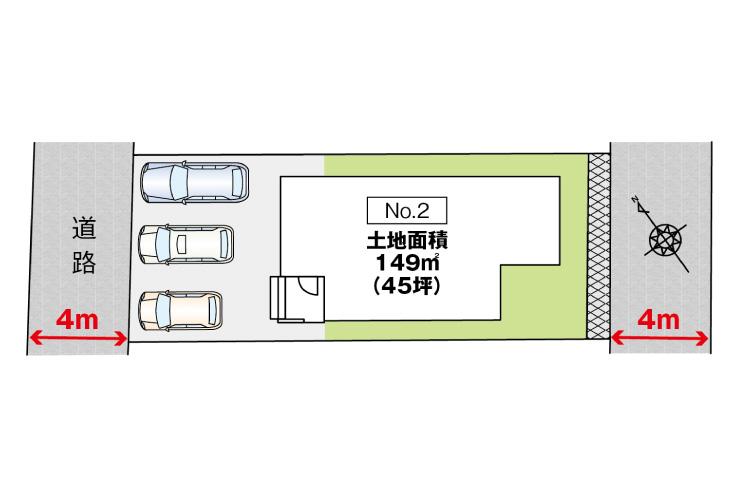 広島市西区己斐上3丁目33【第1現地】新築一戸建て分譲住宅区画図
