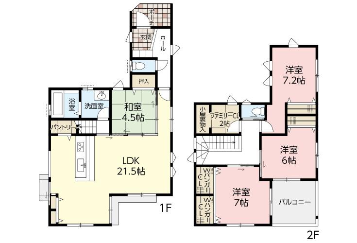 広島県安芸郡府中町柳ケ丘76新築一戸建て分譲住宅間取り図