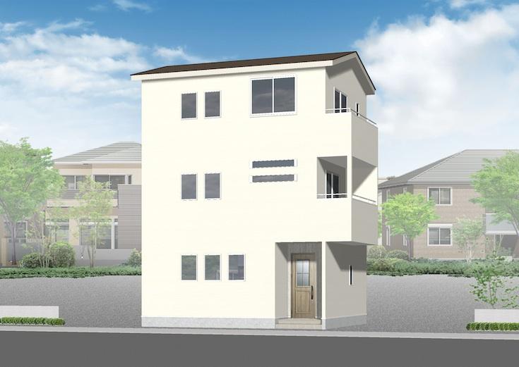 広島市安佐南区中筋4丁目5新築一戸建て分譲住宅外観