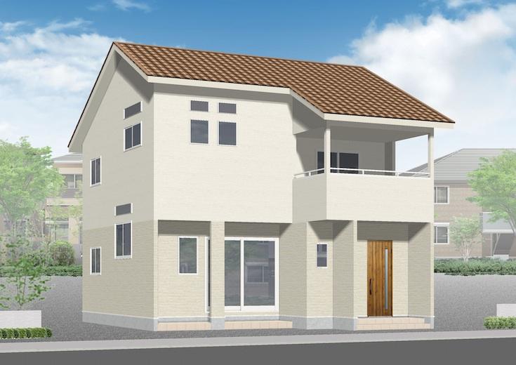 広島市安佐北区三入2丁目14新築一戸建て分譲住宅外観パース