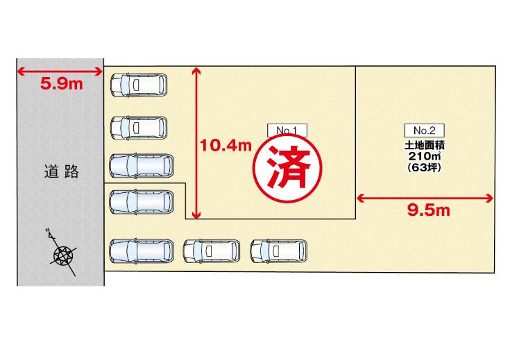 広島市安佐北区可部南4丁目19新築一戸建て分譲住宅区画図