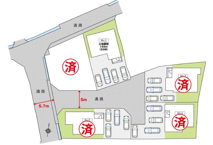 広島市安佐南区緑井8丁目10新築一戸建て分譲住宅区画図