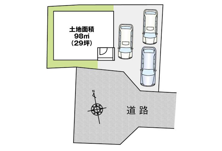 広島市安佐南区中筋4丁目5新築一戸建て分譲住宅区画図