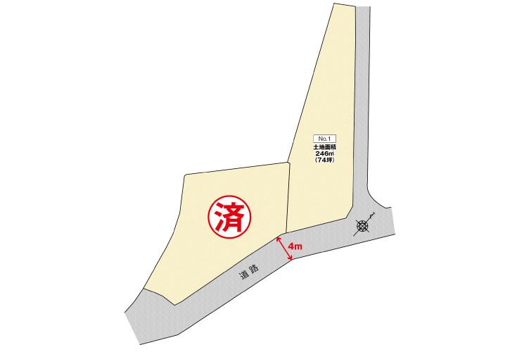 広島市安佐南区伴東4丁目9土地分譲区画図