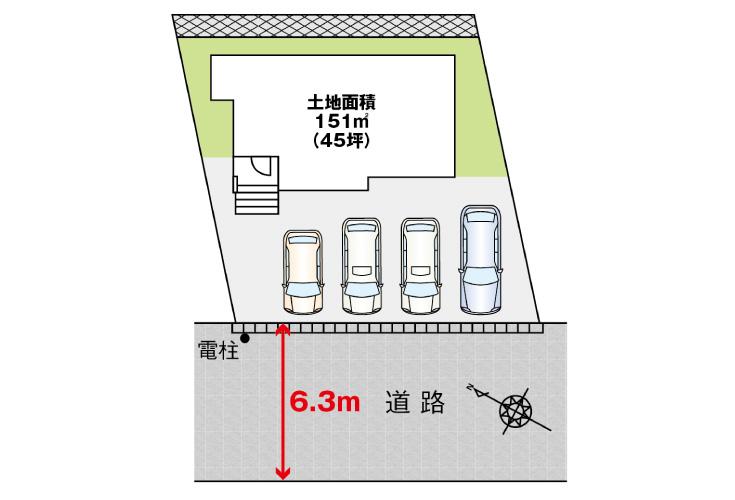 広島市東区戸坂南1丁目16新築一戸建て分譲住宅現地区画図