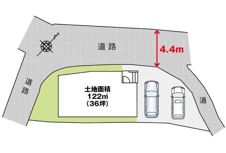 呉市三和町15新築一戸建て分譲住宅区画図