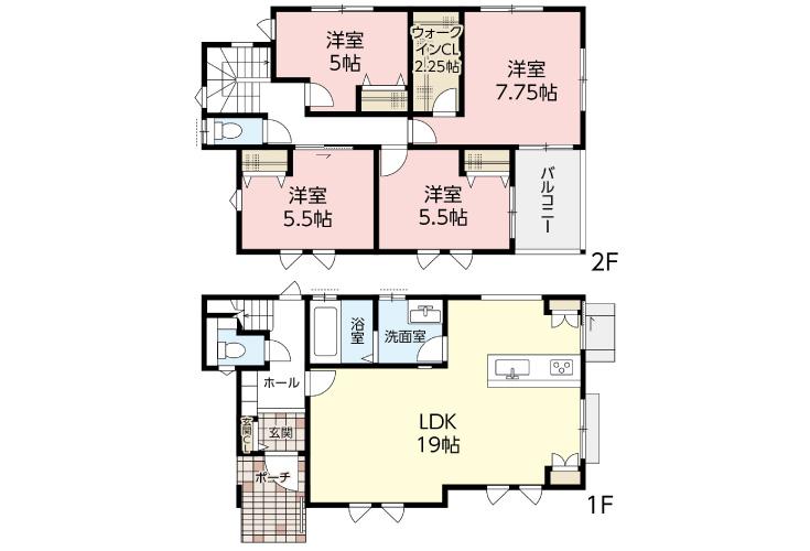 広島市東区戸坂南1丁目16新築一戸建て分譲住宅現地間取り図