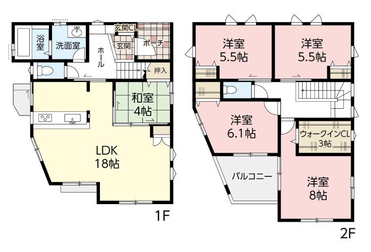 広島市安芸区船越1丁目29新築一戸建て分譲住宅間取り図