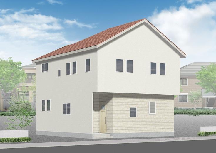 広島市安芸区船越1丁目29新築一戸建て分譲住宅外観パース