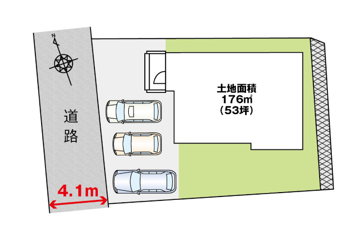 広島市東区上温品2丁目29新築一戸建て分譲住宅区画図