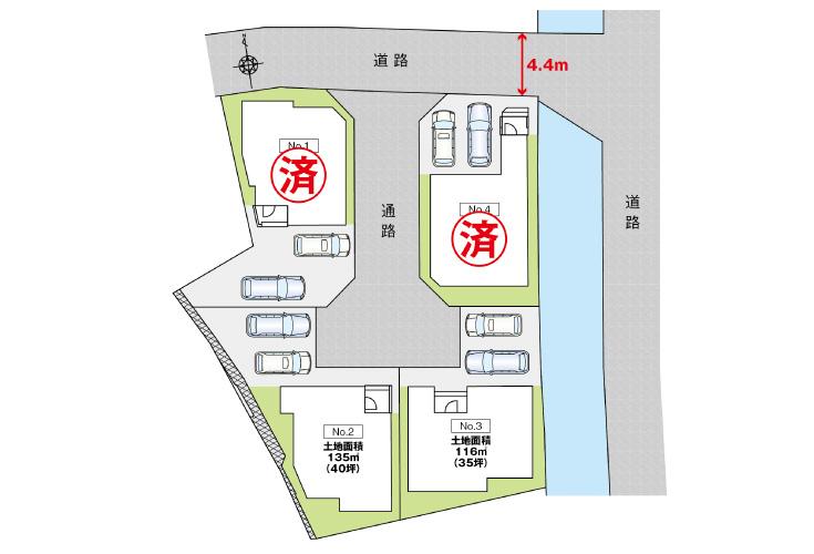 広島市安芸区船越1丁目29新築一戸建て分譲住宅区画図
