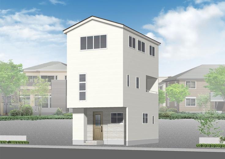 広島市安佐南区古市4丁目6新築一戸建て分譲住宅外観