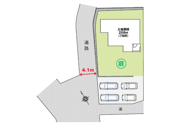 広島市南区向洋大原町26新築一戸建て分譲住宅区画図