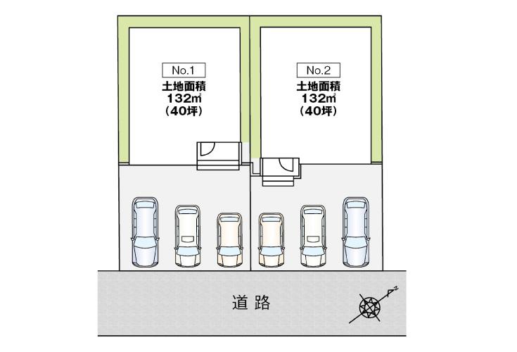 広島県廿日市市大東9新築一戸建て分譲住宅区画図