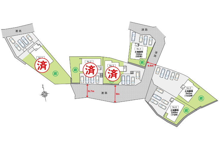 広島市安佐北区可部東5丁目25新築一戸建て区画図