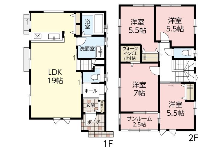 広島市安佐南区相田3丁目50新築一戸建て分譲住宅間取り図