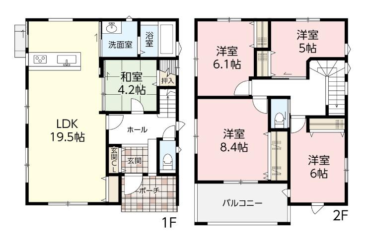 広島県廿日市市大東9新築一戸建て分譲住宅間取り図