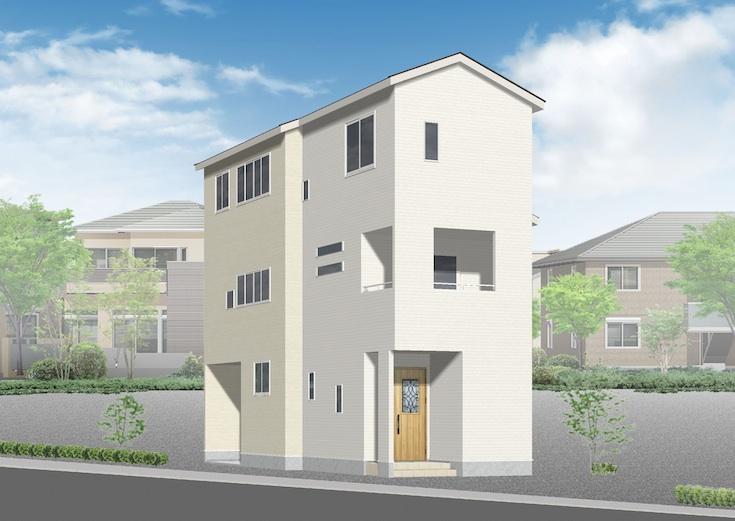 広島市安佐南区中筋3丁目4新築一戸建て分譲住宅外観
