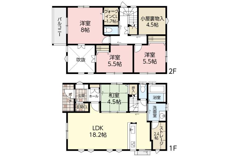 広島市安佐南区古市4丁目3新築一戸建て分譲住宅間取り図