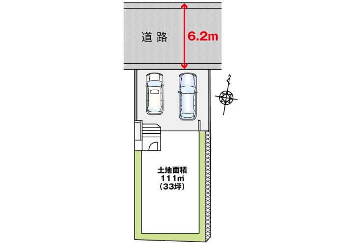 広島市安佐南区高取南2丁目3新築一戸建て分譲住宅区画図