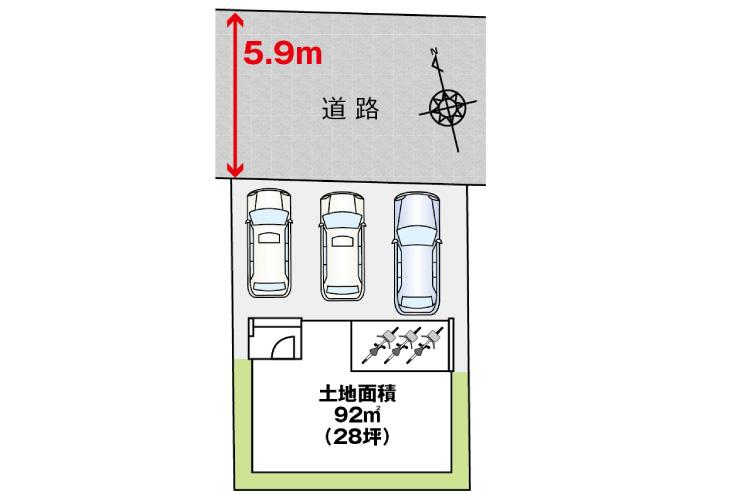広島市西区天満町3新築一戸建て分譲住宅区画図
