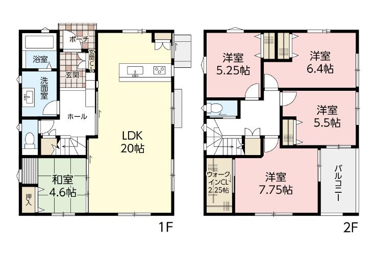 広島市西区己斐中2丁目新築一戸建て分譲住宅間取り図