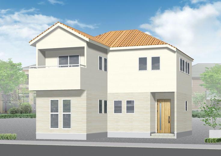 広島市安佐南区高取北4丁目19新築一戸建て分譲住宅外観パース
