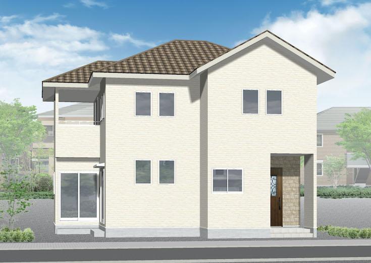 広島市南区向洋大原町26新築一戸建て分譲住宅外観パース