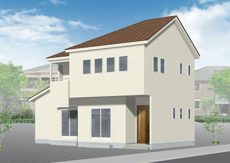 広島市安芸区中野4丁目46新築一戸建て分譲住宅外観パース