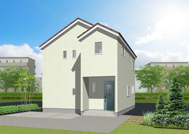 広島市安佐北区可部南3丁目15新築一戸建て分譲住宅外観パース