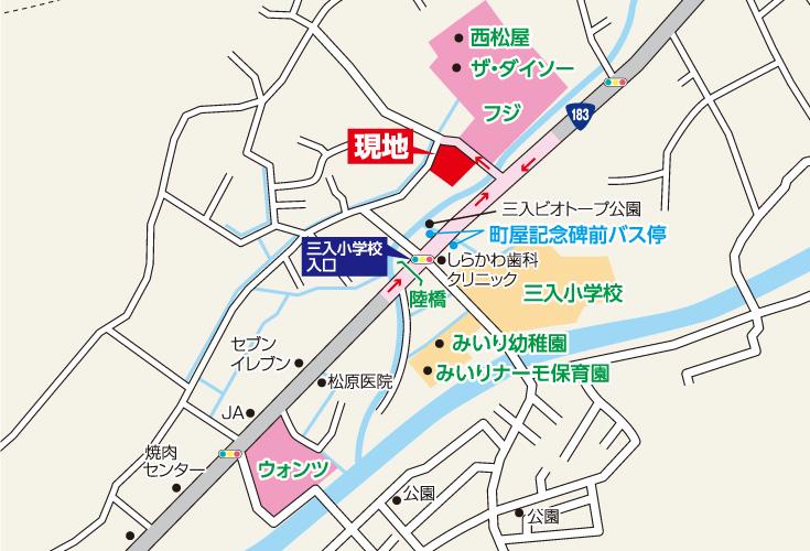 広島市安佐北区三入2丁目25土地分譲住宅現地案内図