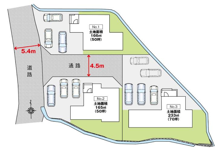 広島市安芸区瀬野5丁目6新築一戸建て分譲住宅区画図