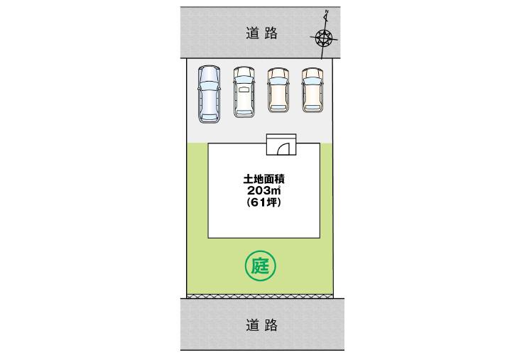 広島市西区己斐上5丁目30新築一戸建て分譲住宅区画図