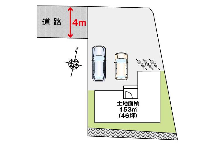 広島県安芸郡府中町青崎中6新築一戸建て分譲住宅区画図